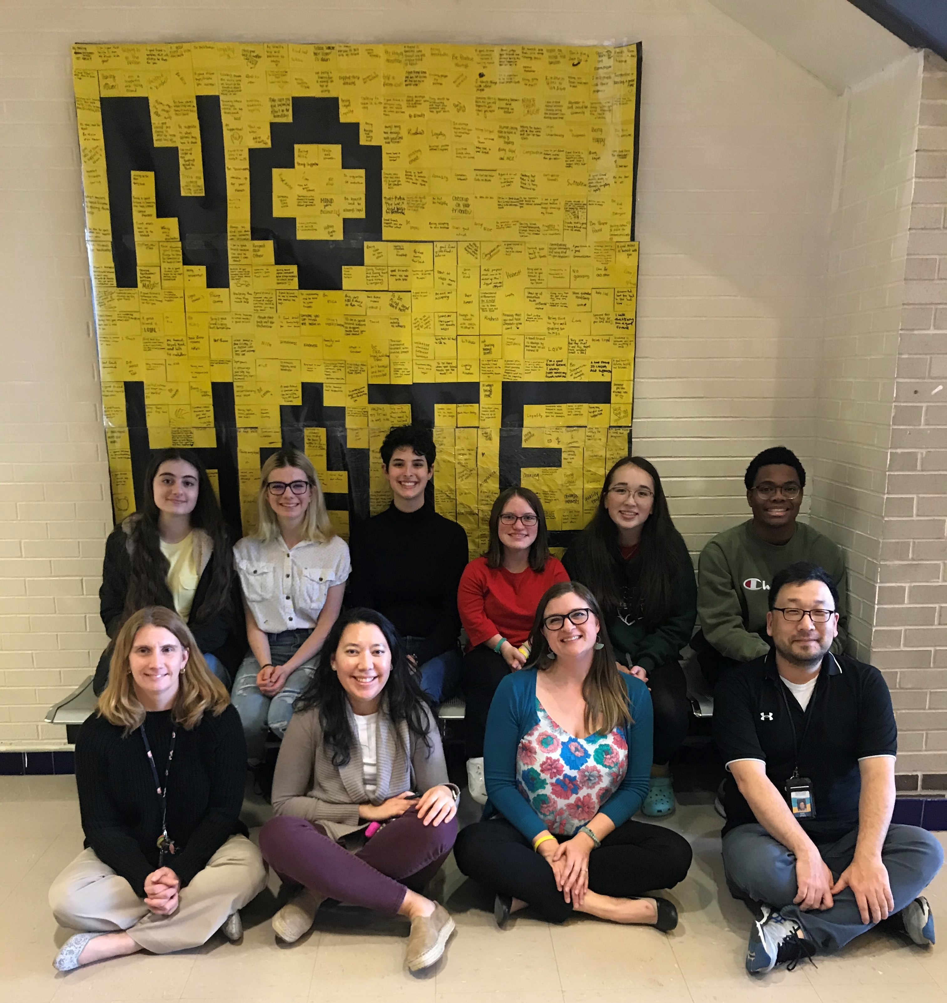 No Place for Hate Committee with Poster
