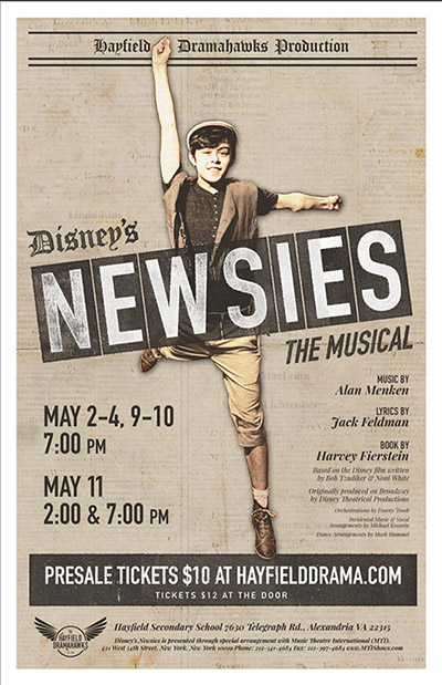 newsies promotion poster