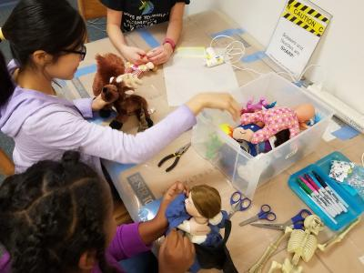 photo of frankentoys activity in the library